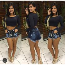 Shorts Jeans Hot Pants Sal E Pimenta Spike Sj041