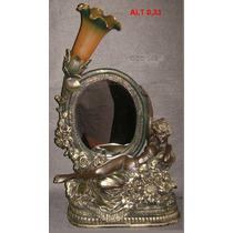 Luminaria Mulher Com Espelho De Petit Bronze ( Cod 99 )