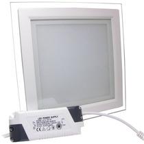 Spot Led 18w Branco Puro Quadrado Borda Vidro Paflon 1800l