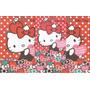 Kit De Papel De Carta Hello Kitty Maçã E Morango 2 Modelos