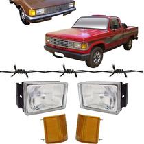 2 Farol Opala Caravan D20 + 2 Lanterna Pisca Ambar 80 A 87