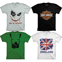 Camiseta England Why So Serious Harley Devidson Playboy Cccp