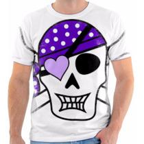T Shirt Camisa Camiseta Caveira Osso Cruzado Pirata 02