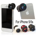 Kit Lentes P/ Iphone 5 . Kit 3 Em 1:fisheye,macro E Wide