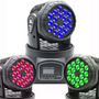Kit X 2 Moving Head Wash 18 Leds 3w Rgb Triled 110 220v Dmx