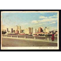 Cartão Postal Antigo Belo Horizonte Mg Vista Parcial