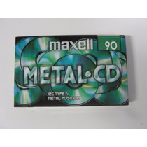 K-7 Maxell Metal- 90 Fita K-7 Lacrada Virgem Tape Deck Cce