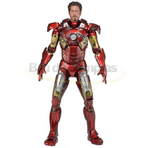 Boneco Action Figure Marvel Iron Man Battle Damaged - Neca