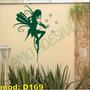 Adesivo Decorativo Mod D169 - Fada Magia Asa Voar Infantil