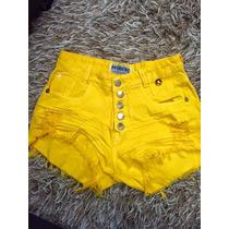 Shorts Jeans Colorido