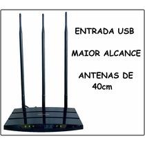 Roteador Wireless Tp-link Com Usb Antena 16dbi Longo Alcance