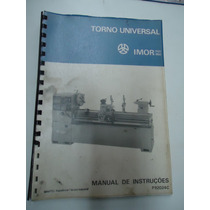 Manual De Instrução Torno Imor 520 / 650
