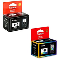 Kit 2 Cartucho Canon Pg140 Cl141 Para Mg-3210 Mg3210 Mg4110