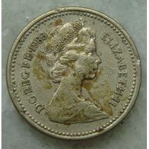 Inglaterra One Pound 1983 - 23mm - Niquel Decus Et Tutamen
