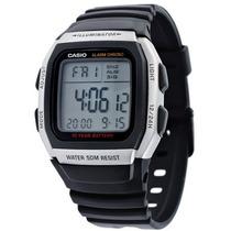 Relogio Casio W-96h Alar Crono 50m W96 Prata Db36