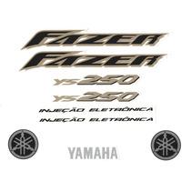 Kit Adesivos Yamaha Fazer Ys 250cc 2007 Azul