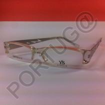 Armação Transparente Branca Unissex Óculos Lentes Grau Ótica