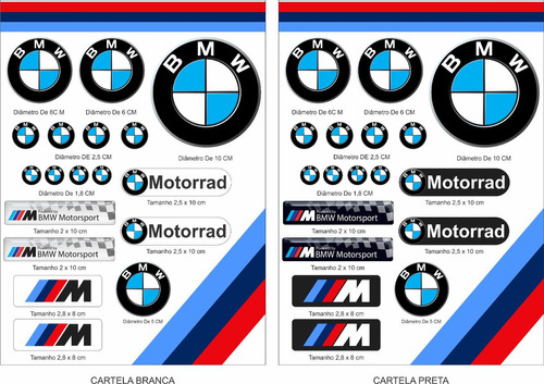 Cartela Adesivos Moto Capacete Carro Bmw Motorrad. R  40. 25 vendidos 47e7136ae1781