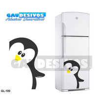 Adesivos De Geladeira Decorativo Pinguim Grande Cozinha Box