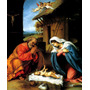 Natividade José Maria Menino Jesus Pintor Lotto Tela Repro