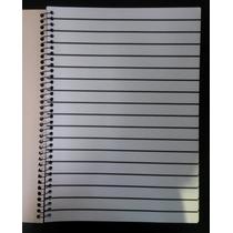 5 Cadernos Universitarios Pauta Ampliada Baixa Visão Braille
