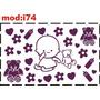 Adesivo I74 Urso Ursinho Bebê Amadeira Coração Flor Adesivo