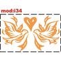 Adesivo I34 Pássaros Passarinhos Coração Paz Amor Igreja