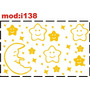 Adesivo I138 Céu Noite Lua Estrelas Noite Quarto