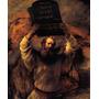 Moisés Tábua Dez Mandamentos Pintor Rembrandt Tela Repro