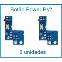 2 Botão Power Ps2 Liga/desliga Placa Reset Play2 90001 90010