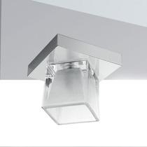 Plafon Vidro Cristal Cubo 12x12 Luminária Quarto - Golden