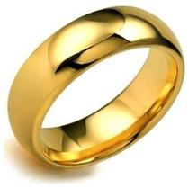 Aliança Compromisso Noivado Anatômica Aço Inox 316l Cor:ouro