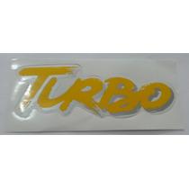 Emblema Adesivo Turbo Amarelo Uno