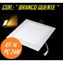 Kit 14 Painel Plafon Luminaria Led Embutir Branco Quente 24w