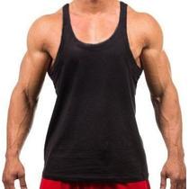 Camiseta Regata Super Cavada Academia Masculina - Malha Pv