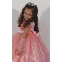 Vestido De Festa Criança Dama Formatura Casamento Rosa