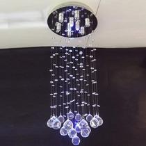Lustre De Cristal Importado Com Luz Led Controle Remoto