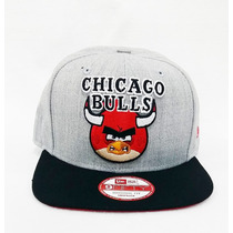 Boné Aba Reta Nba Chicago Bulls Snapback Angry Birds Aberto