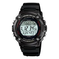 Relógio Casio W-s200 H-1b Solar 5 Alarmes Cronometro Wr100 P