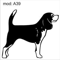 Adesivo A39 Cachorro Raça Beagle Decoração Parede