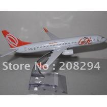 Miniatura Avião Gol B737-800 Em Metal 1:400 (16 X 15 Cm)