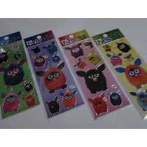 Furby - Kit Com 12 Cartelas De Adesivos Stickers