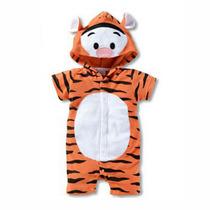 Macacão Fantasia Infantil Bebê Personagem Tigrão Ou Mickey