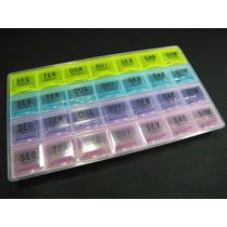 Porta Comprimidos Transparente 4 X Ao Dia Semanal Remédios