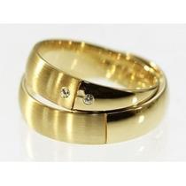 Alianças De Ouro 18k Com Diamantes J R.