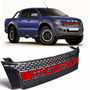 Grade Central Ford Ranger Raptor 2014 Emblema Vermelho