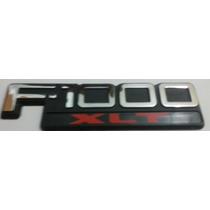 Emblema F-1000 Xlt, Preto Cromado E Vermelho- Ford