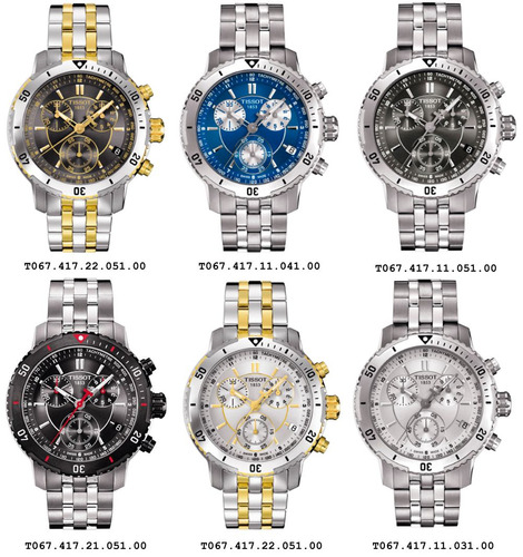 cb5bd806672 Relógio Tissot Prs200 - Prs 200 Fundo Preto   Branco   Azul - R ...