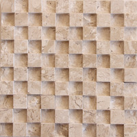 Mosaico De Mármore Travertino/pronto P/ Instalar/placa 30x30