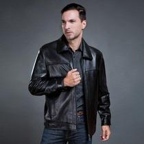 Jaqueta De Couro- Gg- Importada Masculina Clássico Elegante
